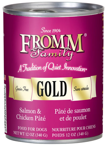 Hollywood Feed - Fromm Dog Food - Gold Salmon & Chicken Pate - Canned Dog Food