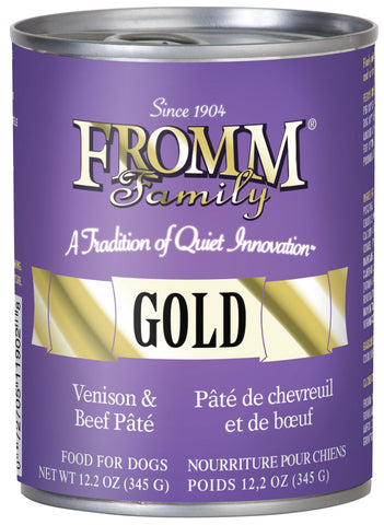 Fromm Dog Food - Gold Venison - 12.2oz 12/cs