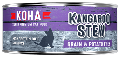 KOHA Canned Cat Food -Kangaroo Stew - 5.5oz 24/cs