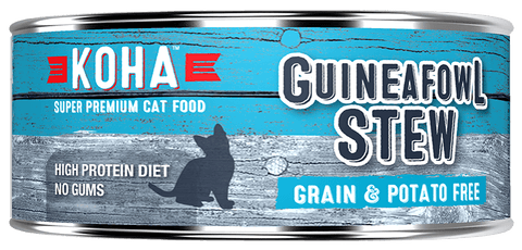 KOHA Canned Cat Food - Guineafowl Stew - 5.5oz 24/cs