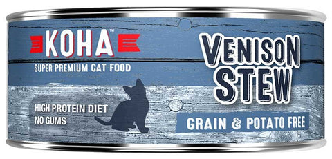 KOHA Canned Cat Food - Venison Stew - 5.5oz 24/cs