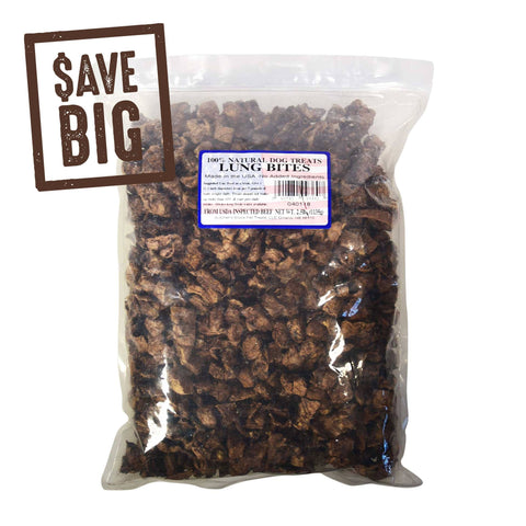 Hollywood Feed - Butcher's Block Lung Bites 2.5lb Bag - Treats