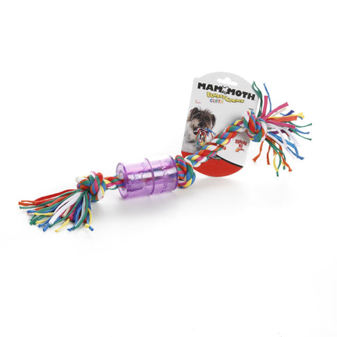 Hollywood Feed - Mammoth Rope Toy - Cloth Squeaky TPR - Medium -