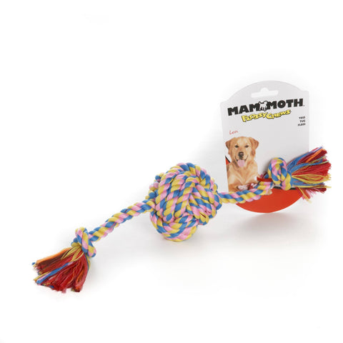 Hollywood Feed - Mammoth Rope Toy - Color Monkey Ball - Small -
