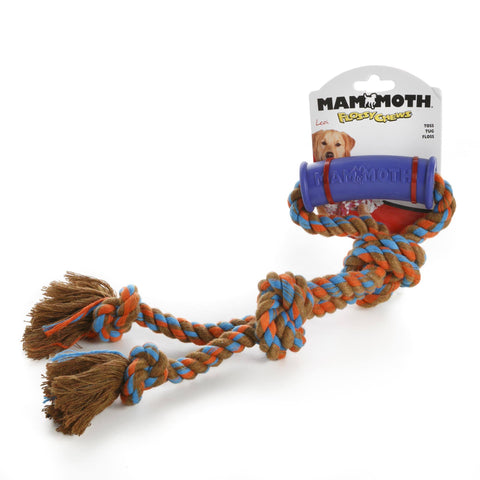 Hollywood Feed - Mammoth Rope Toy - Color Twin Tug with Handle - Small -