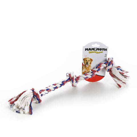 Hollywood Feed - Mammoth Rope Toy - Cotton Color 3 Knot Tug - Medium -