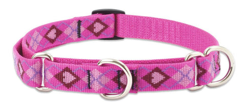 "Hollywood Feed - Lupine Adjustable Martingale Collar (Medium Dog) - Puppy Love - 3/4"" - Martingale Collar"
