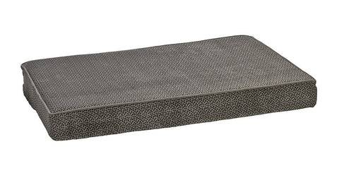 Hollywood Feed - *Bowsers Isotonic Foam Mattress - Pewter Bones - Orthopedic Bed