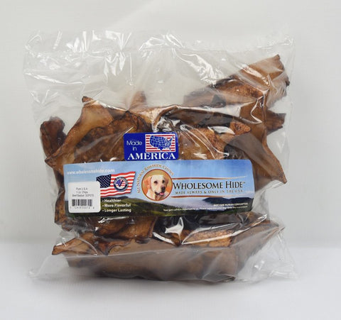 Hollywood Feed - Wholesome Hide Chips Beef 1 Pound Bag - Rawhide