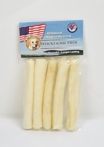 Hollywood Feed - Wholesome Hide Roll Mini 5 Pack 5 Inch - Rawhide