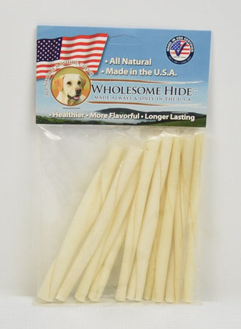 Hollywood Feed - Wholesome Hide Twists 10 Pack 5 Inch - Rawhide