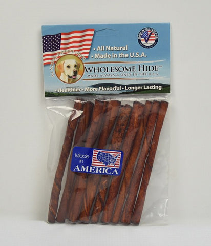Hollywood Feed - Wholesome Hide Twists Peanut Butter 10 Pack 5 Inch - Rawhide