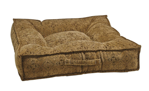 Hollywood Feed - *Bowsers Piazza Bed - Pecan Filigree - Rectangle Bed