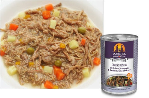 Weruva Dog Food - Grain Free Steak Frite with Beef, Pumpkin and Sweet Potatoes in Gravy