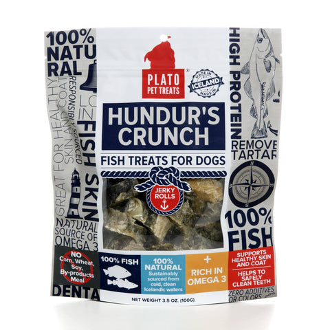 Hollywood Feed - Plato Hundur's Crunch - 3.5oz - Treats - 2