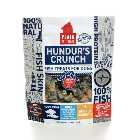 Hollywood Feed - Plato Hundur's Crunch - 3.5oz - Treats - 3