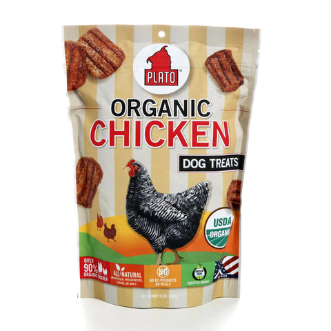 Plato Pet Treats - Organic Chicken - 16oz