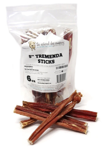 "The Natural Dog Company 5"" Tremenda Sticks 6 oz"