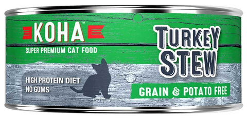 KOHA Canned Cat Food - Turkey Stew - 5.5oz 24/cs