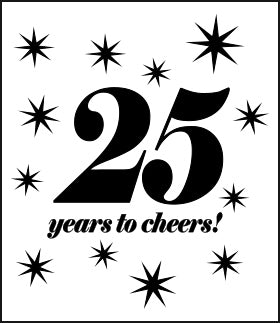 25 years to cheers!