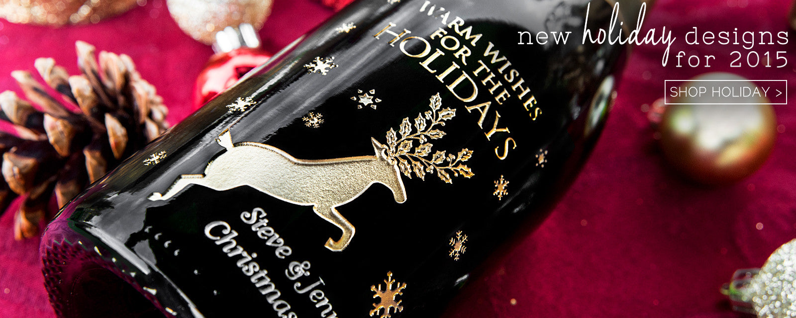 Shop Holiday Etched Wines