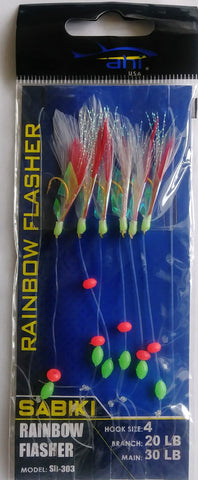 Ahi USA Sabiki Rainbow Flasher