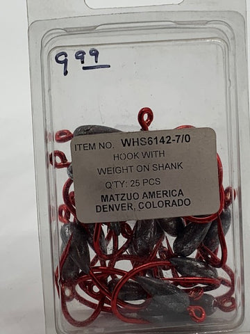 Matzuo Weighted Hooks 7/0