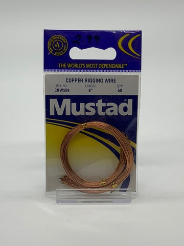 Mustad Copper Rigging Wire 50ct