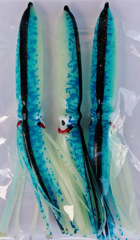 bulb squid blue black