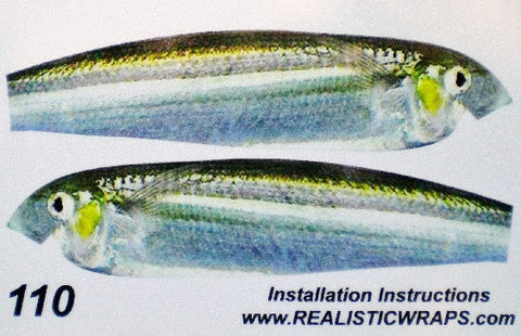 Realistic Wraps for Lucky Craft Flash Minnow 110