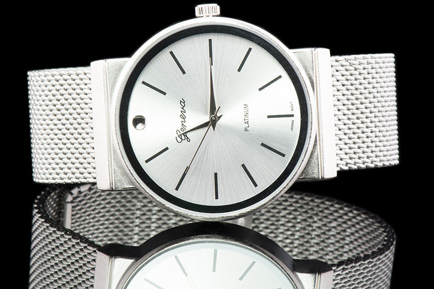 "Mens Stainless Steel Executive Watch ""Alexio"" - Johnny Shades"