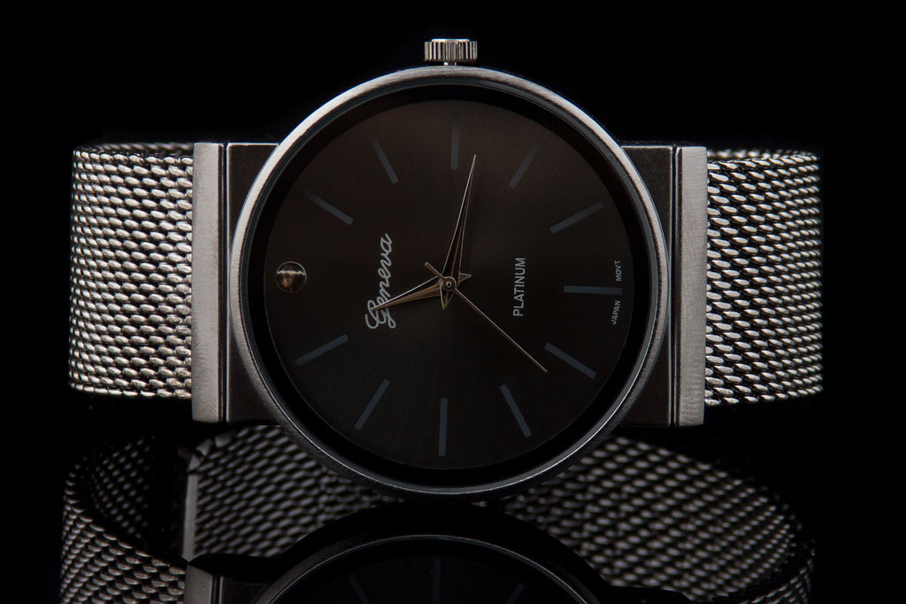 "Mens Stainless Steel Executive Watch ""Alexio"""