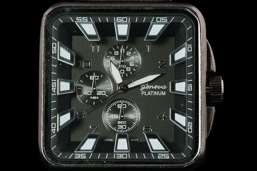 "Mens Square Face Steel Band Racing Watch ""Grail"""
