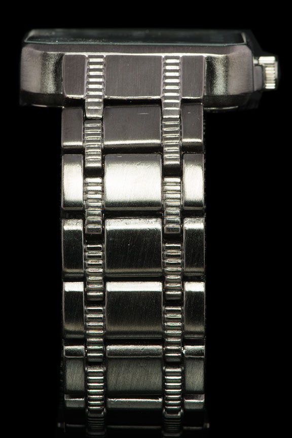 "Mens Square Face Steel Band Racing Watch ""Grail"" - Johnny Shades"
