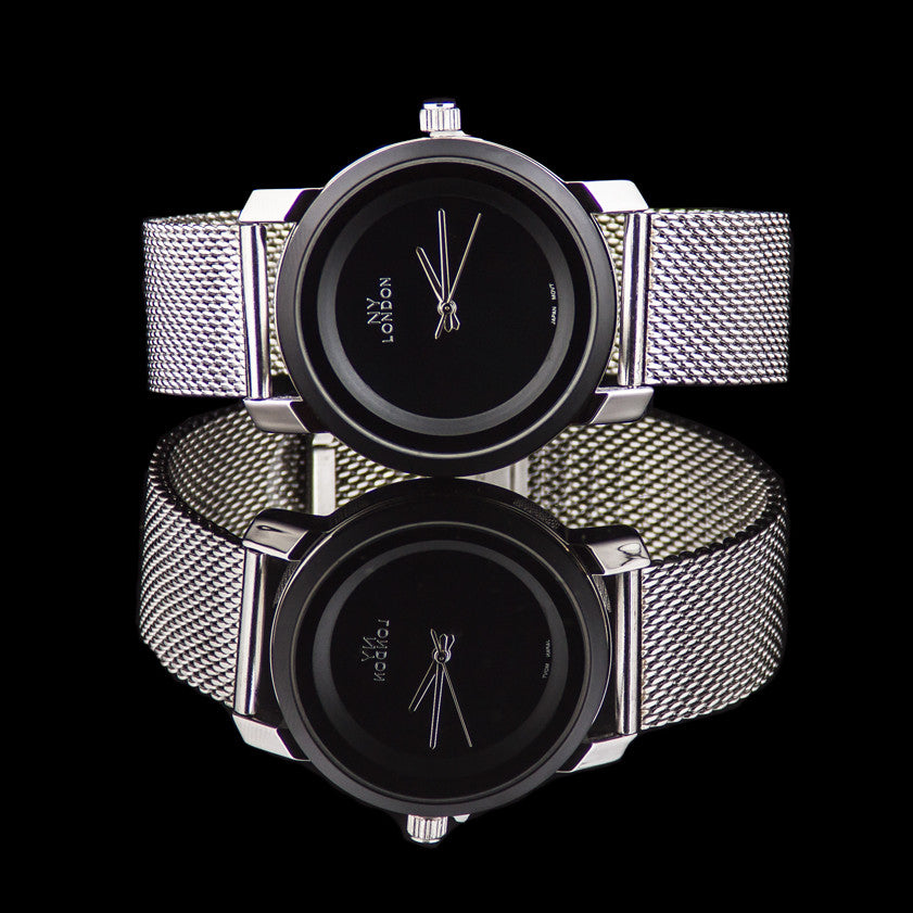 "Luxury Elegant Stainless Steel Mesh Band Watch ""Allegro"""