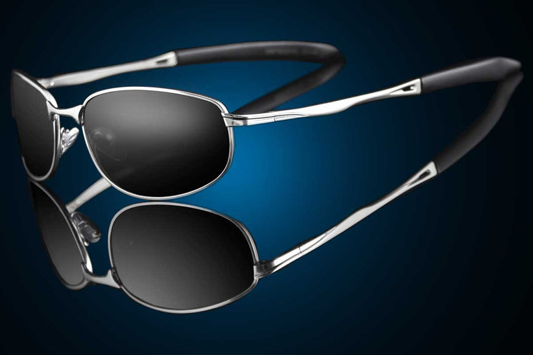 "Steel Wraparound Polarized Sunglasses ""Havana"""