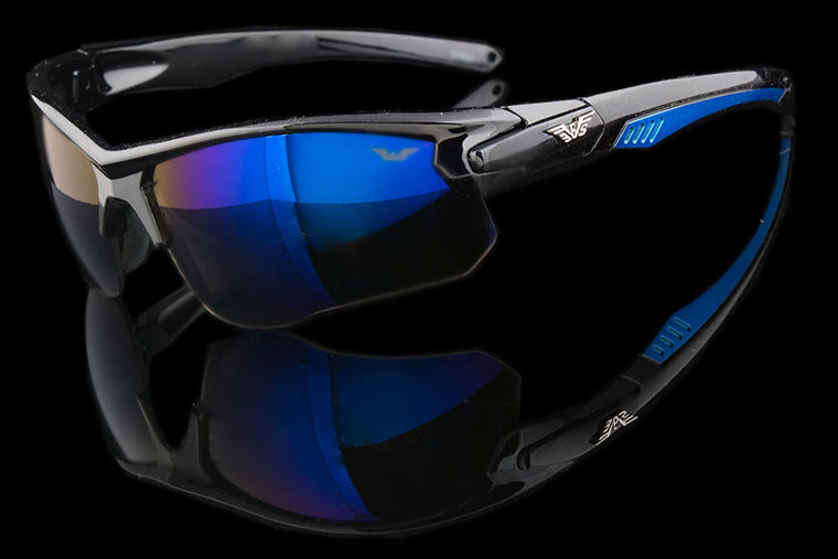 "Wraparound Lightweight Sport Mirror Sunglasses ""Cutler"""