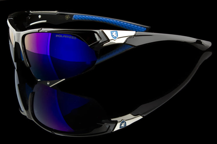"Exotic Polarized Sport Wraparound Sunglasses ""Alpine II"" - Johnny Shades"