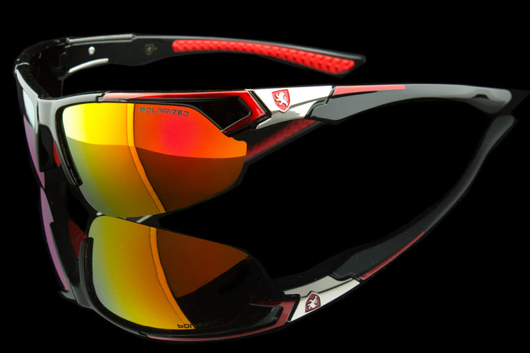 "Exotic Polarized Sport Wraparound Sunglasses ""Alpine II"""