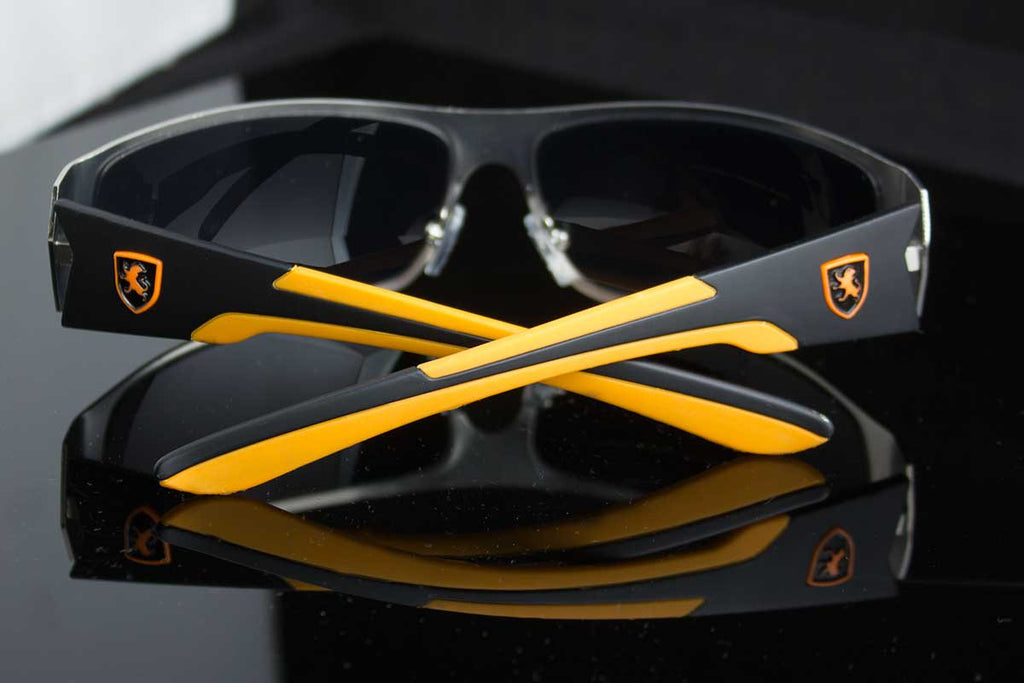 "Metal Exotic Collection Mens Wraparound Sunglasses ""Cobra"""