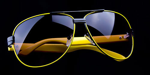 "Euro Racing Aviator Sunglasses Exotic Car Inspired ""Italia"""