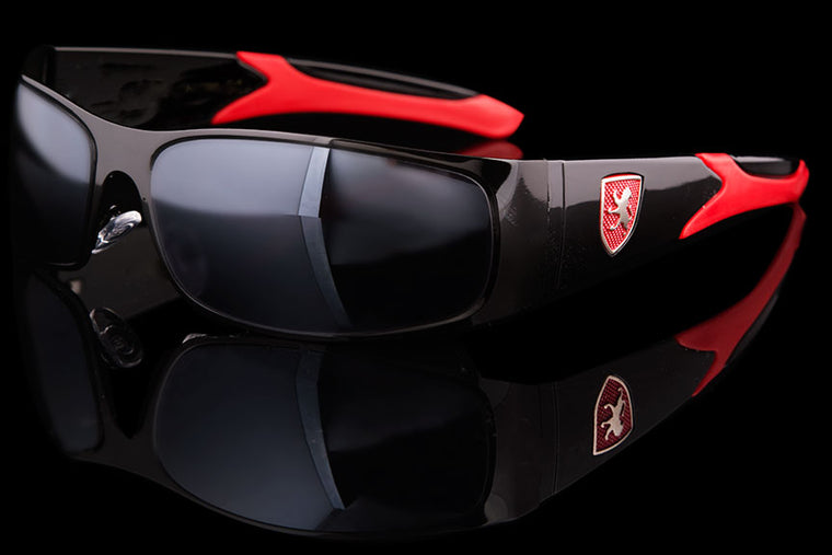 "Mens Exotic Wraparound Driving Sunglasses ""Veyron"""