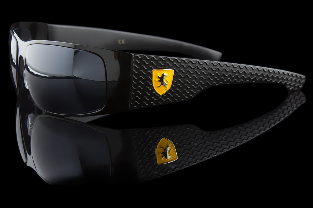 "Luxury Driving Wraparound Tire Tread Design Sunglasses ""Huracan"""