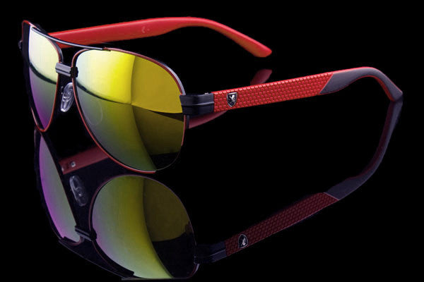 "Euro Racing Aviator Sunglasses Exotic Car Inspired ""Italia-MC"" - Johnny Shades"