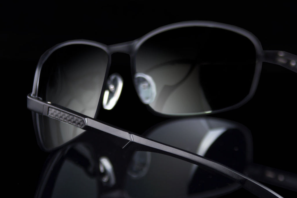 "Small Oval TAC Polarized Carbon Fiber Temple ""Helix"""