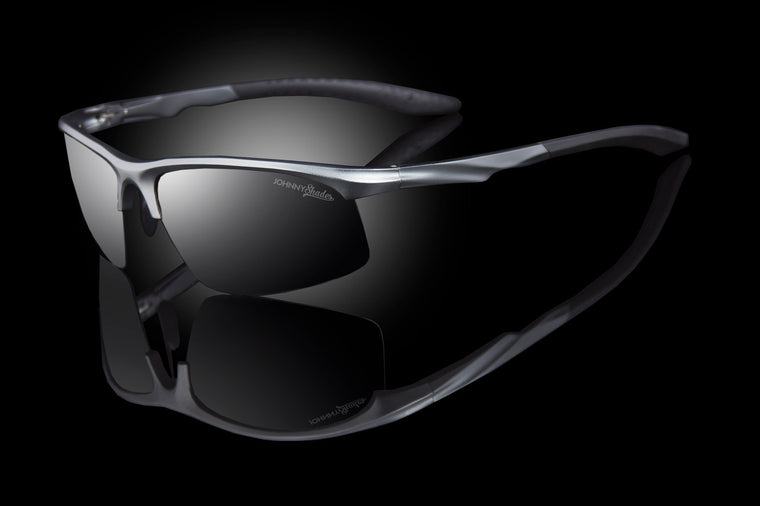 "Mens Sport TAC Polarized Wraparound Sunglasses ""Predator"" - Johnny Shades"