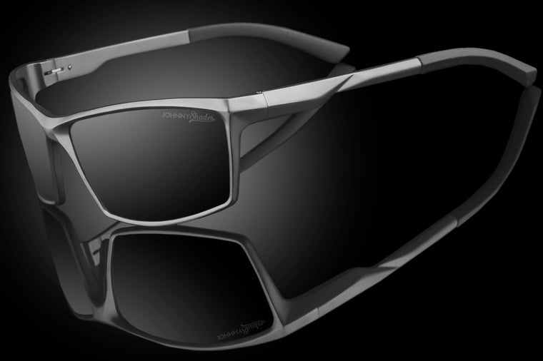 "Mens Premium TAC Polarized Rectangular Sunglasses ""REV"" - Johnny Shades"