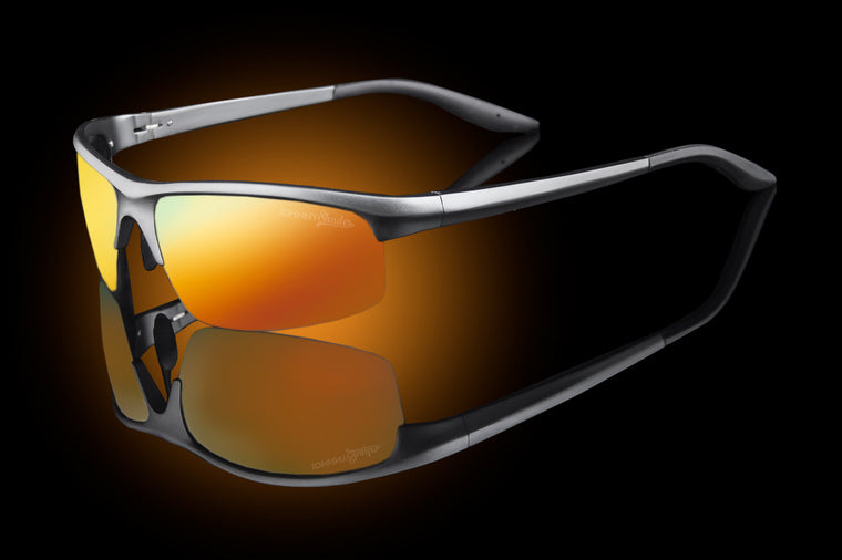"Mens Premium Exotic Wraparound Sunglasses ""Pacific"" - Johnny Shades"