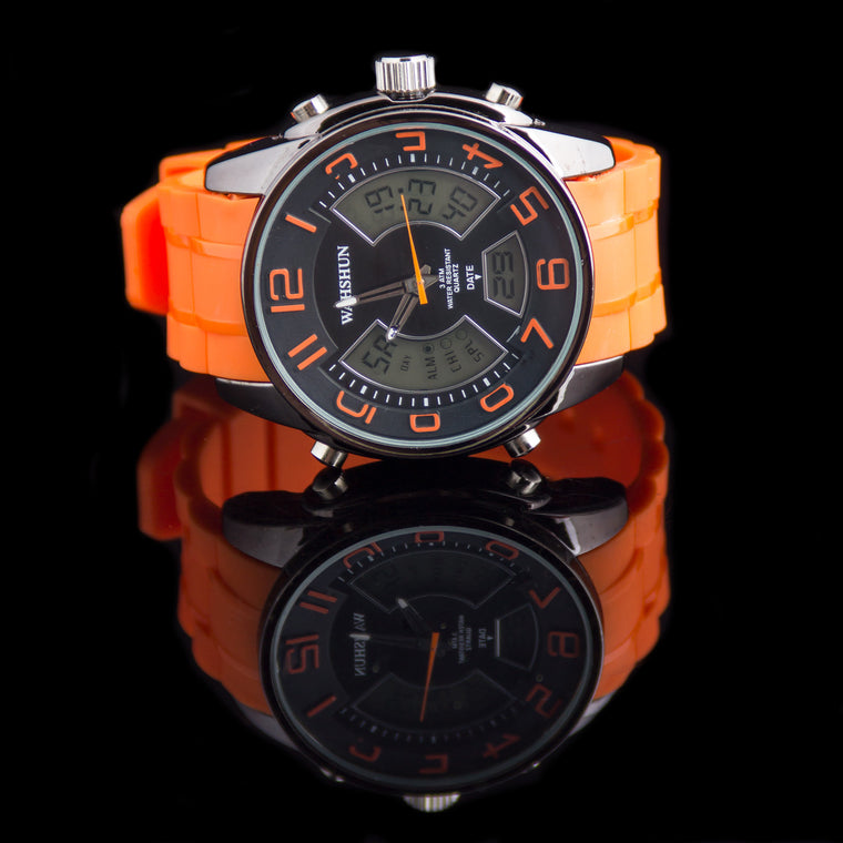 "Mens Digital Multifunction Face Watch ""Eleven """
