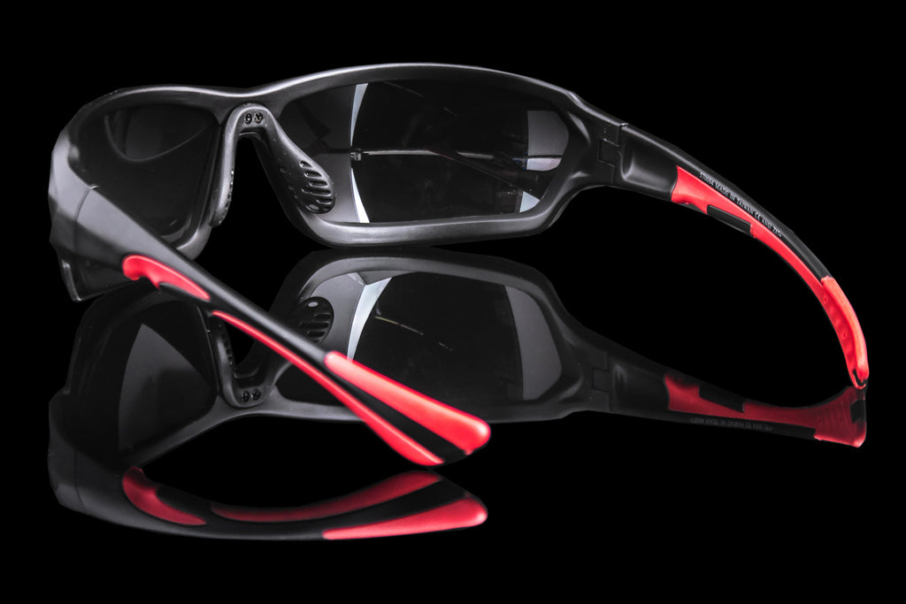 "Mens Wraparound Safety Protection Sunglasses ""Ultron"" ANSI Z87+"
